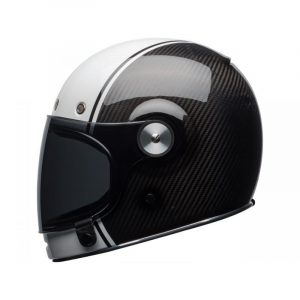 CASCO MOTO INTEGRALE BELL BULLITT PIERCE GLOSS WHITE CARBON