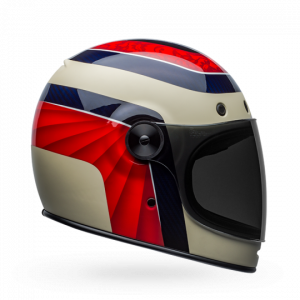 CASCO MOTO INTEGRALE BELL BULLITT CARBON HUSTLE MATTE GLOSS RED SAND CANDY BLUE