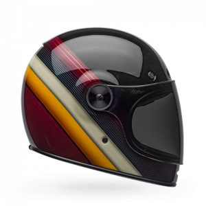 CASCO MOTO INTEGRALE BELL BULLITT DLX BURNOUT GLOSS BLACK WHITE MAROON