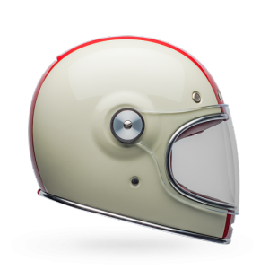 CASCO MOTO INTEGRALE BELL BULLITT DLX COMMAND GLOSS VINTAGE WHITE RED BLUE