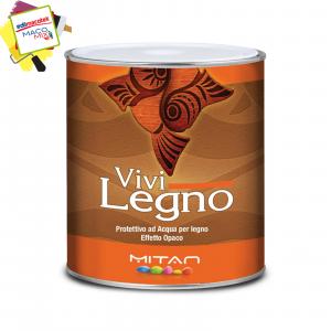 Mitan Vivilegno Vernice Impregnante Protettivo ad Acqua per Legno 0,75ml colore Ciliegio