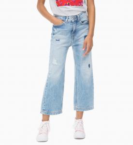 Jeans celeste a zampa d'elefante