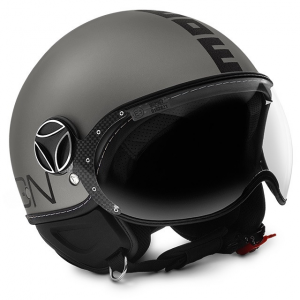MOMO DESIGN FIGHTER EVO TITANIO Casco Jet - Nero