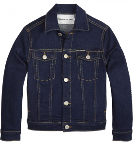 Giubbotto di jeans blu con tasconi