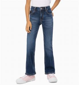 Jeans blu a zampa d'elefante