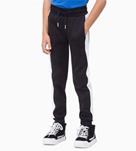 Pantalone di tuta nero con bande bianche