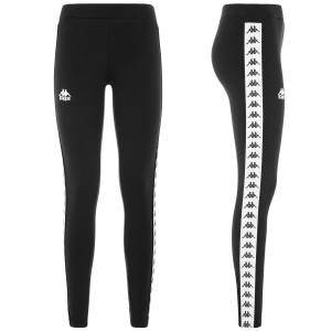 LEGGINGS KAPPA BLACK/WHITE CON BANDE 303WGJ0/950