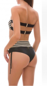Bikini fascia e slip retrò Capital Effek