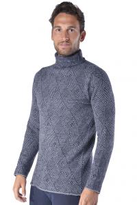 Maglia uomo Hamaki-Ho in lana con fantasia geometrica blu 1733ec075d8