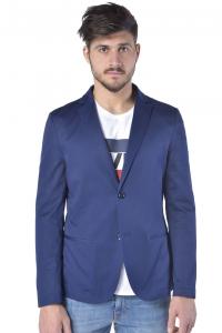 Giacca uomo Daniele Alessandrini in cotone stretch bluette 7d183161b5c