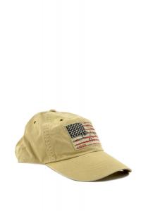 Berretto uomo Ralph Lauren cotone con logo bandiera beige 6316f956c83a