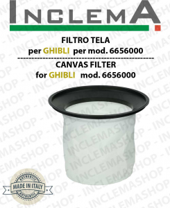 Canvas Filter cod: 6656000 for vacuum cleaner GHIBLI, Wirbel, Synclean