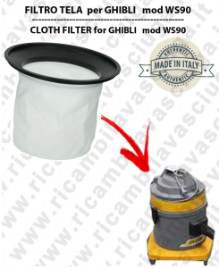 Canvas filter for vacuum cleaner GHIBLI model WS90