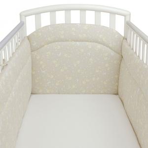 Babysanity Paracolpi per lettino/culla lati corti lunghezza 195 cm (Fantasia pulcino beige) …