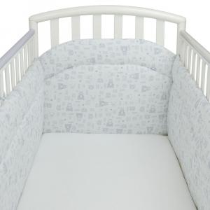 Babysanity Paracolpi per lettino/culla lati corti lunghezza 195 cm (Fantasia teddy) …