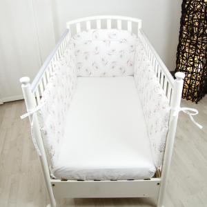 Babysanity paracolpi lettino lati lunghi (Orsetto pois rosa) …