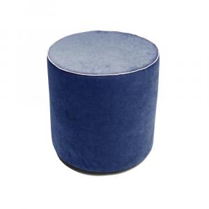 Pouf Aramis Plus Blu - Bianco