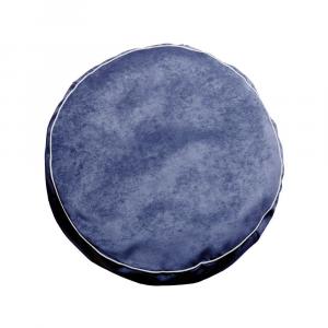 Pouf Porthos Blu - Bianco