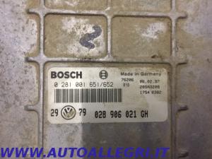 ECU CENTRALINA MOTORE VW GOLF III BOSCH 0281001651/652 0 281 001 651/652