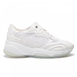 Sneakers bambina in tessuto con luci bianco e argento Geox Todo B9285A 014AJ C0007