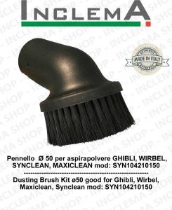 Pennello  Ø 50 per aspirapolvere GHIBLI, WIRBEL, SYNCLEAN, MAXICLEAN mod: SYN104210150