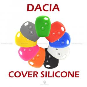 COVER GUSCIO VARI COLORI MATERIALE SILICONE PER SCOCCA CHIAVE 2 TASTI AUTO DACIA