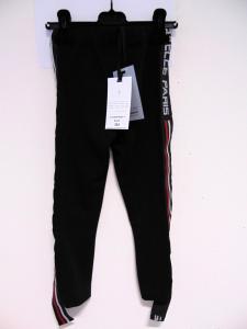 Pantalone nero con bande rosse e bianche