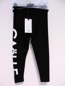 Leggins nero con stampa logo bianco e fondo stretto
