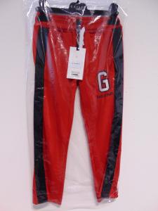 Pantalone rosso con bande nere
