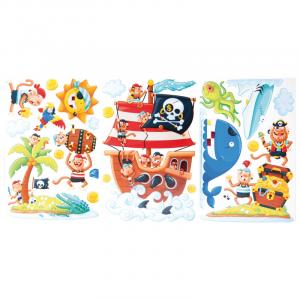 Adesivi decorazioni stickers Isola dei pirati arredo cameretta e mobili bambini