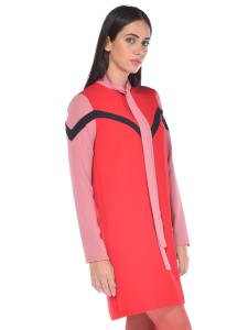 Abito donna Pinko tessuto fluido a casacca rosso 05733a6fd81