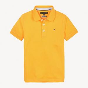 Polo arancione con stampa logo