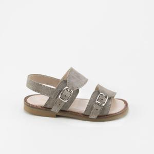 Scarpe a sandalo tortora con fibbie