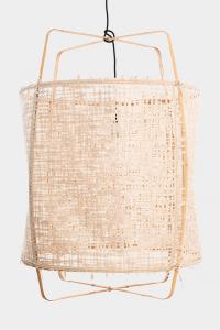 Lampada a sospensione Z2 blonde bambù naturale e paper  ø67x100cm