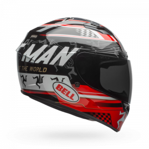 CASCO MOTO INTEGRALE BELL QUALIFIER DLX MIPS ISLE OF MAN 18 GLOSS BLACK/RED