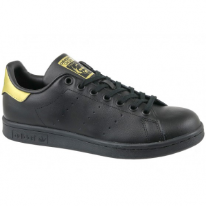 SNEAKERS ADIDAS STAN SMITH J BLACK/GOLD BB0208
