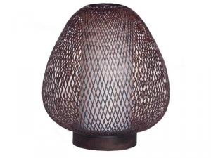 Lampada da tavolo Twiggy Egg in bambù scura ø30cm-2