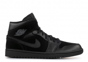 SNEAKERS JORDAN AIR JORDAN 1 MID BLACK/DARK GREY BLACK 554724 050
