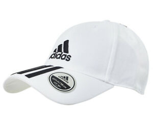 CAPPELLO ADIDAS 6P 3S CAP COTTO WHITE/BLACK DU0197