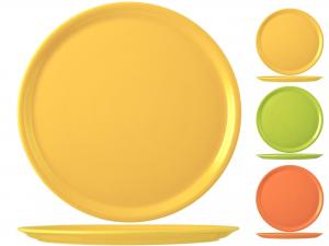 SATURNIA Set 6 Pizza Plates Porcelain Assorted Colors Cm31