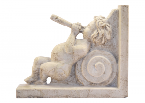 Marble Sculpture Cherub Musician Shelf Italian Handicrafts