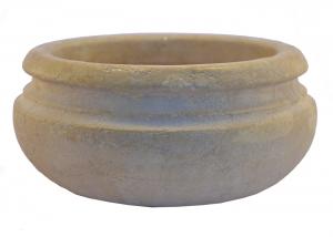 Marble Multipurpose Bowl Planter Hand-Carved Italian Craftsmanship