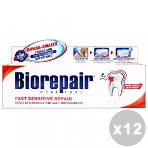 BIOREPAIR Set 12 Toothpaste Fast Sensitive Repair Oral Hygiene