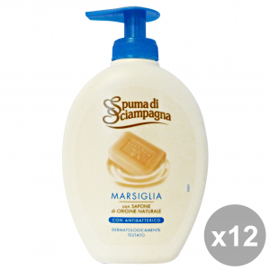 SPUMA DI SCIAMPAGNA Set 12 Marseille Liquid Soap Hands Antibacterial Hand Soap