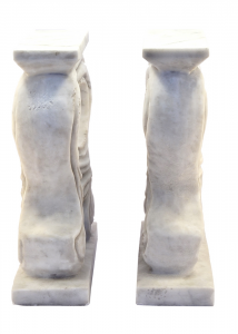 Marble Floral Bases Table Hand Carved Italian Craftsmanship