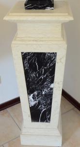 Erma Pedestal Marble Sculpture Handmade Classic Style Classical Elegant