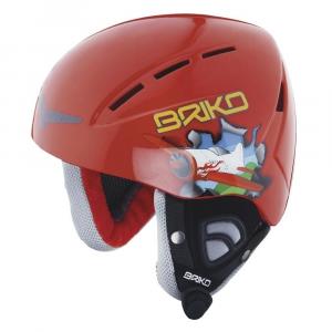 BRIKO Downhill Helmet Skiing Junior Kodiakino Toy Airplane Red Blue