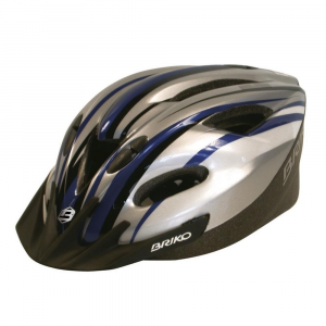 BRIKO Helmet For Cycling/Bike Unsiex Meltemi Black Blue Silver
