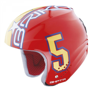 BRIKO Helmet Unisex Cap Ski Descent Abs Rookie Red Yellow