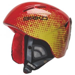 BRIKO Downhill Helmet Skiing Junior Kodiakino Red Yellow